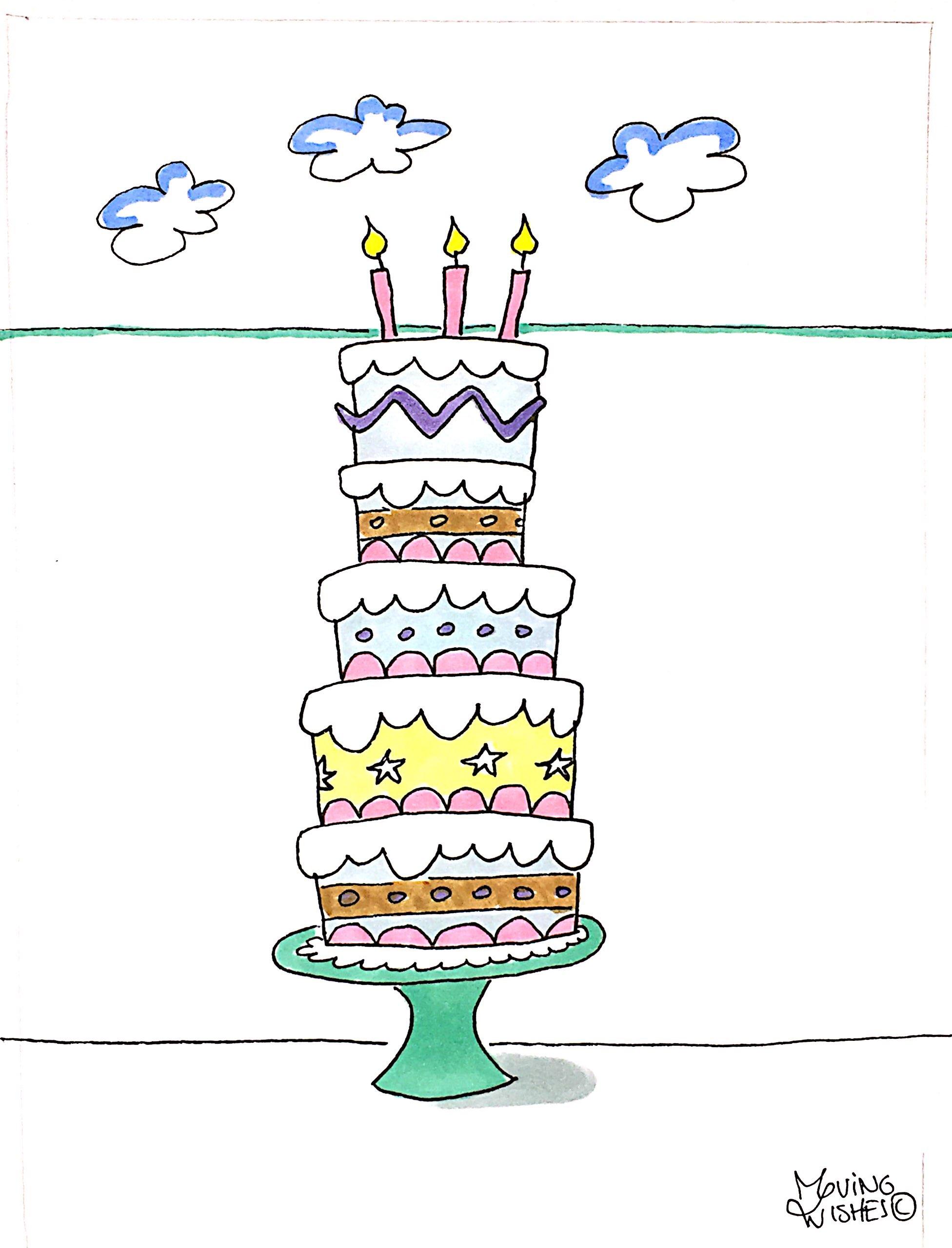 Verjaardagskaart met taart