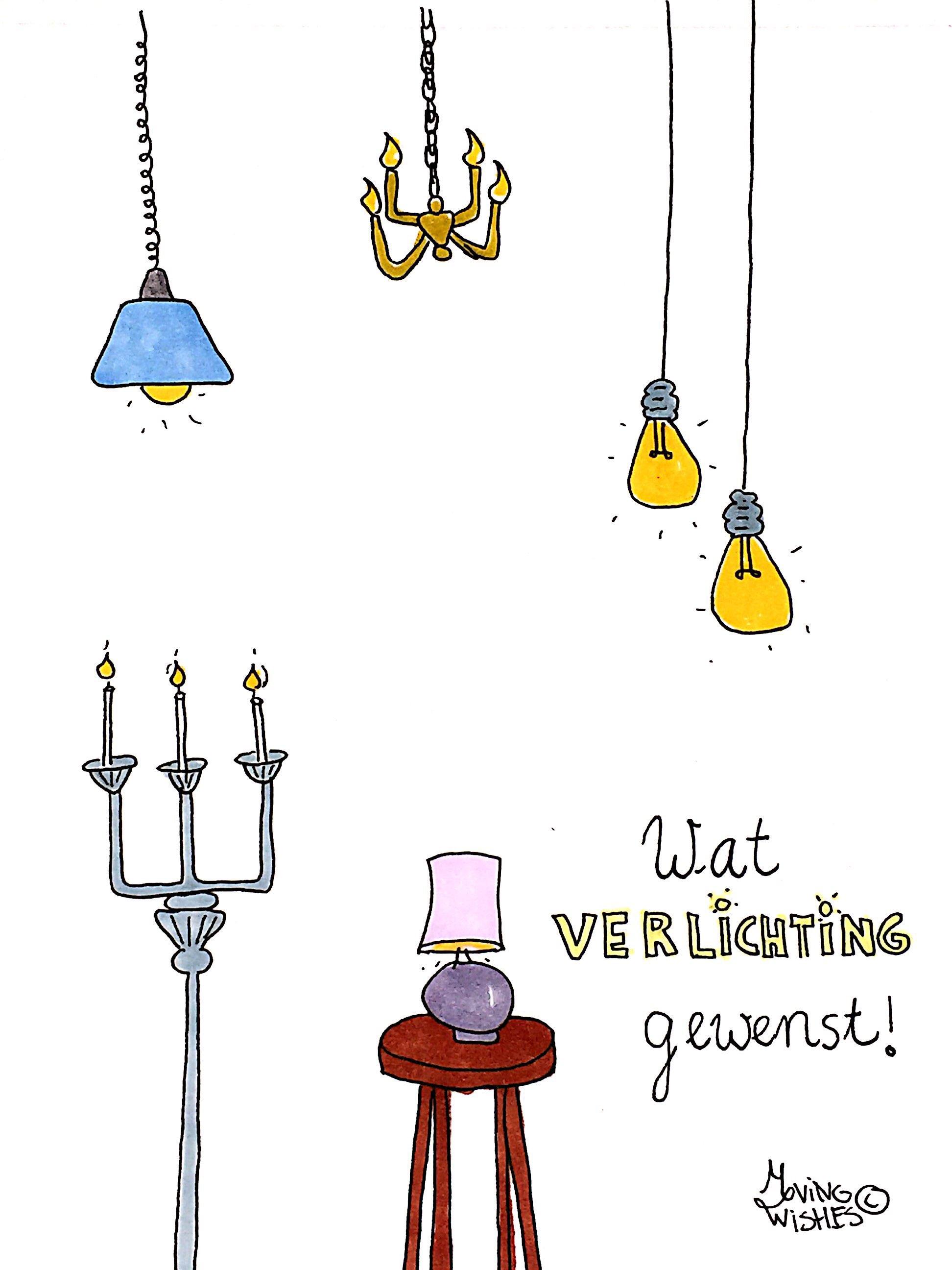 Wenskaart met verlichting.