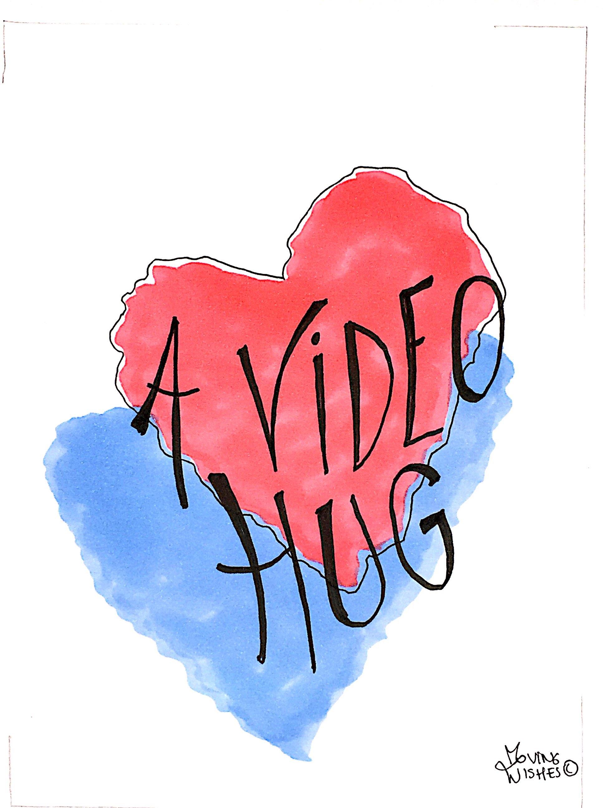 Wenskaart video hug
