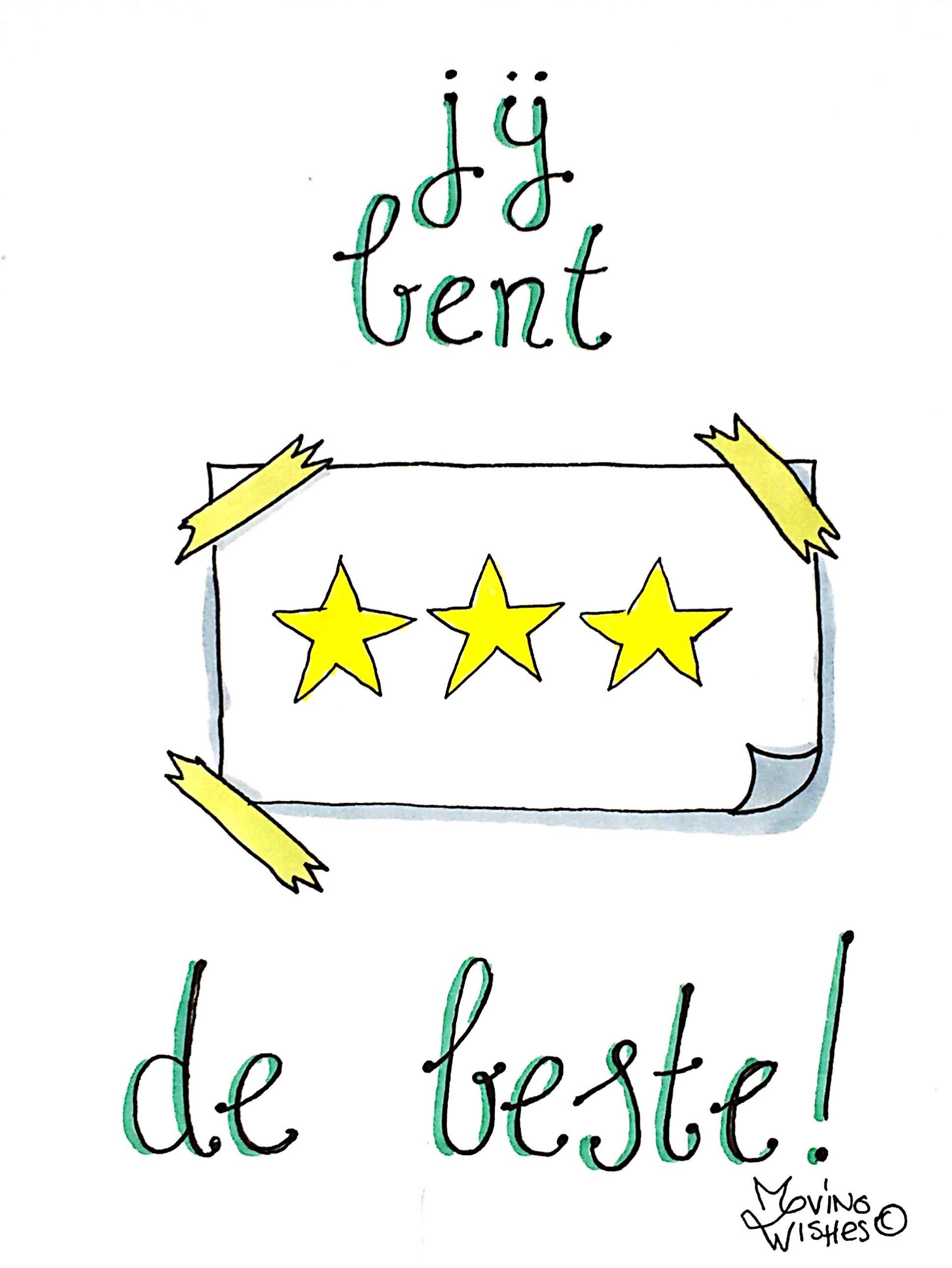 Wenskaart sterren op papier.