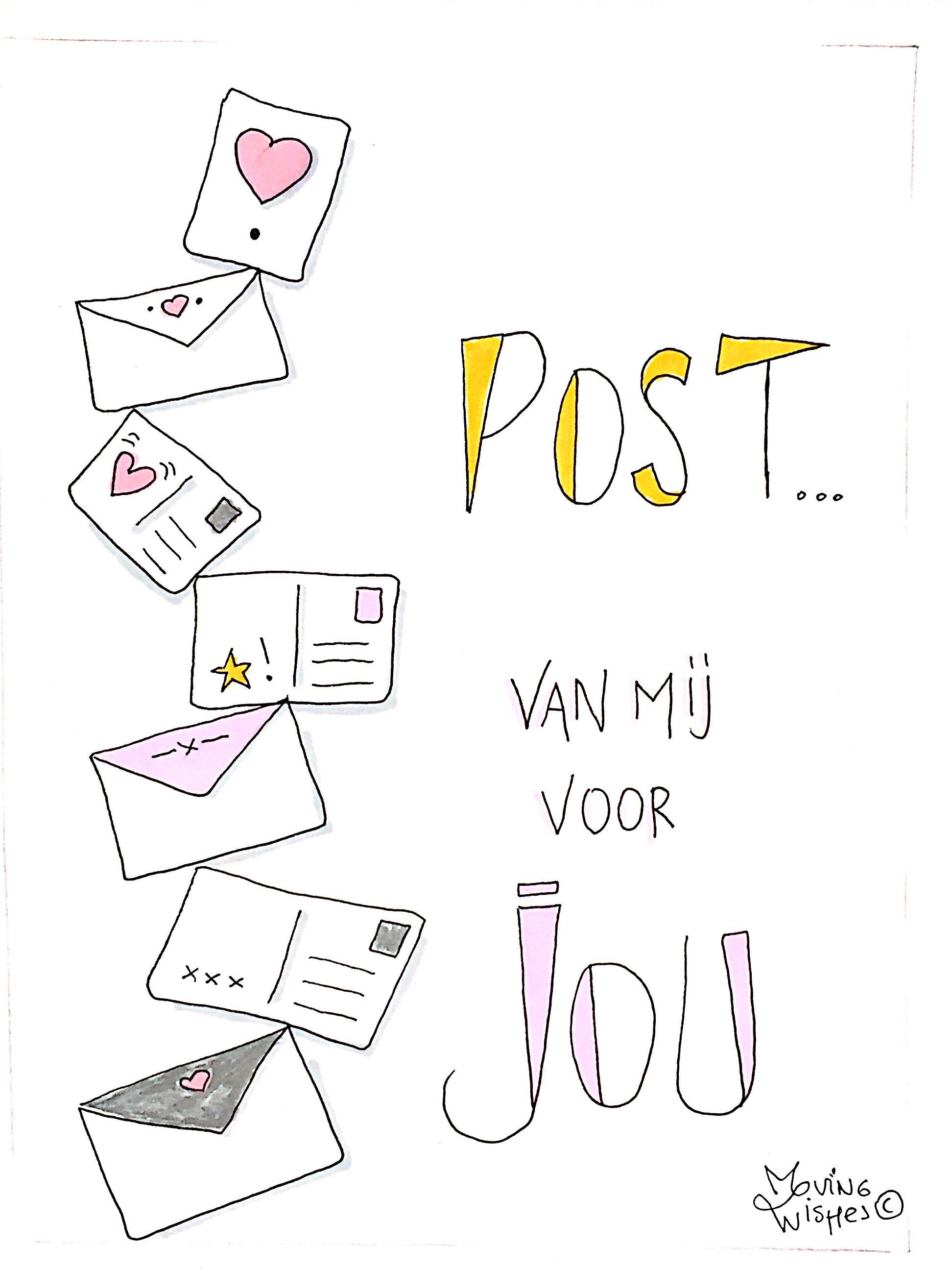 Wenskaart liefdesbrieven.