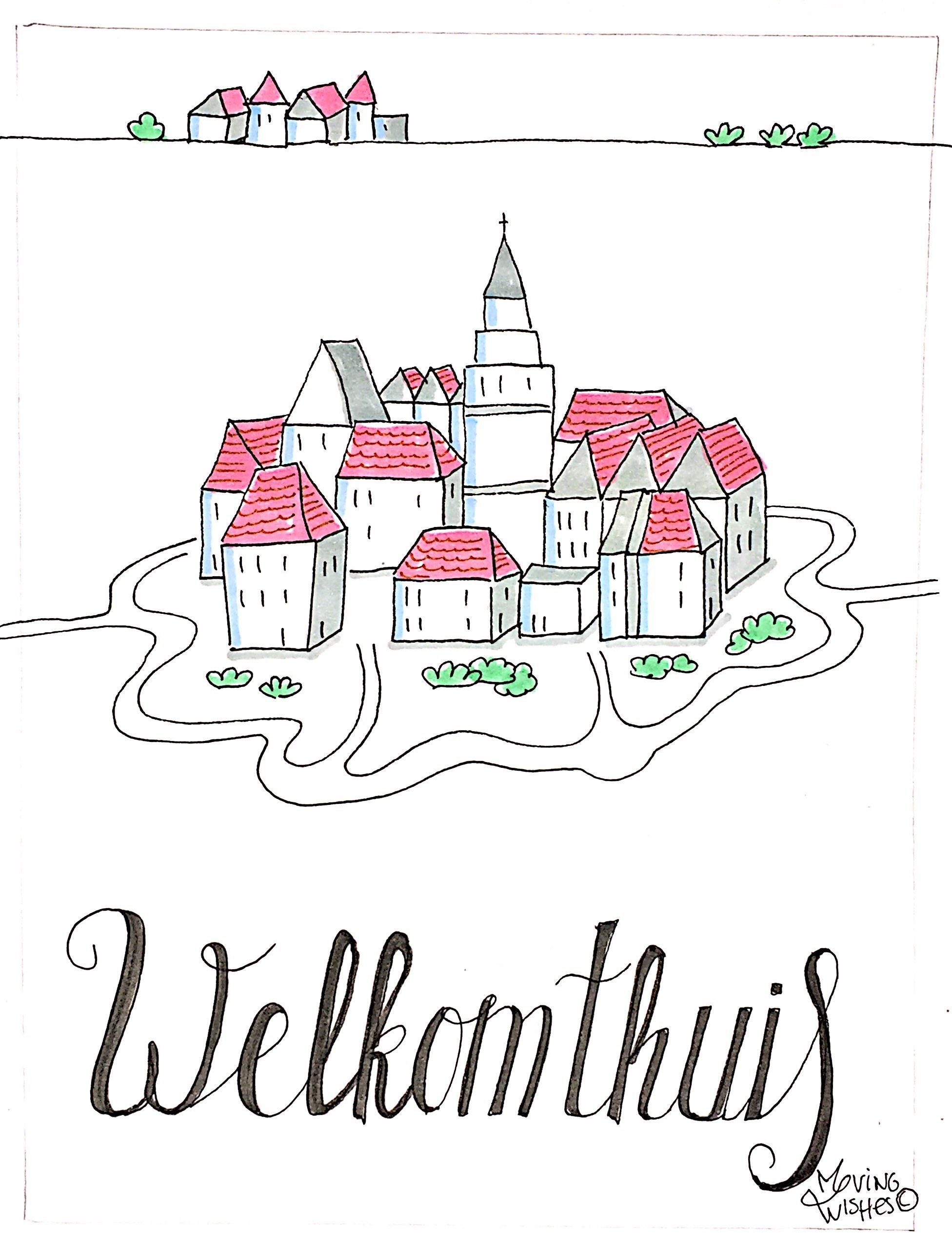 Wenskaart welkom thuis.