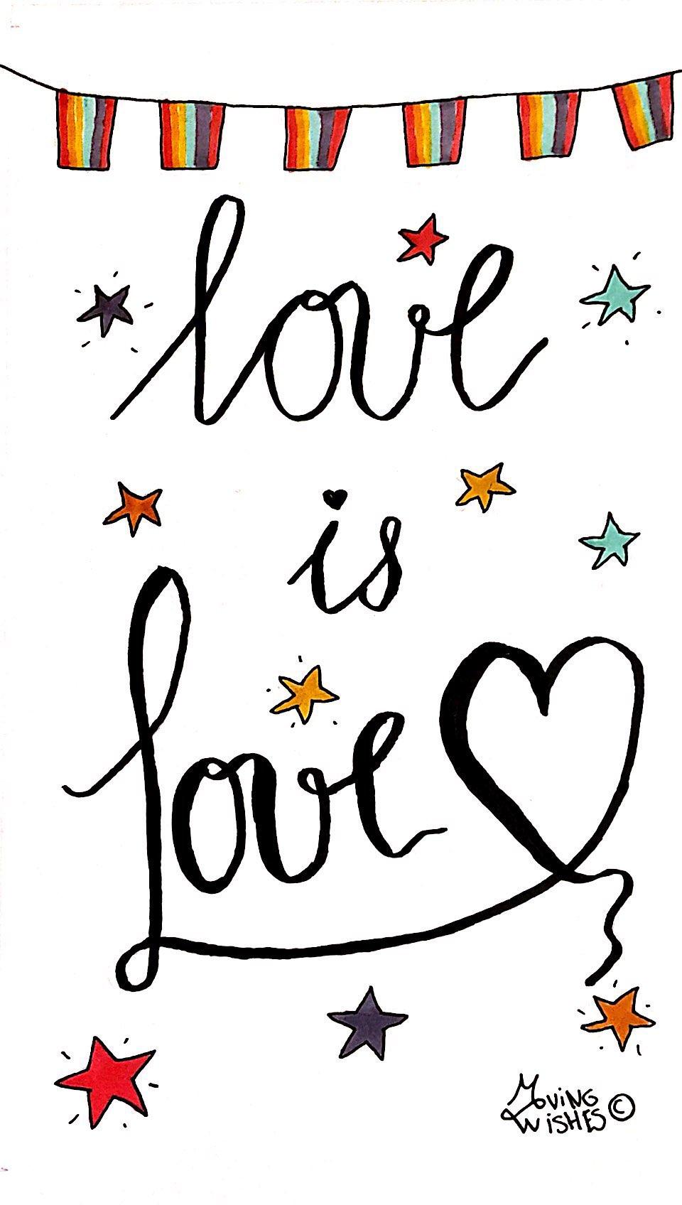 Wenskaart liefde is liefde