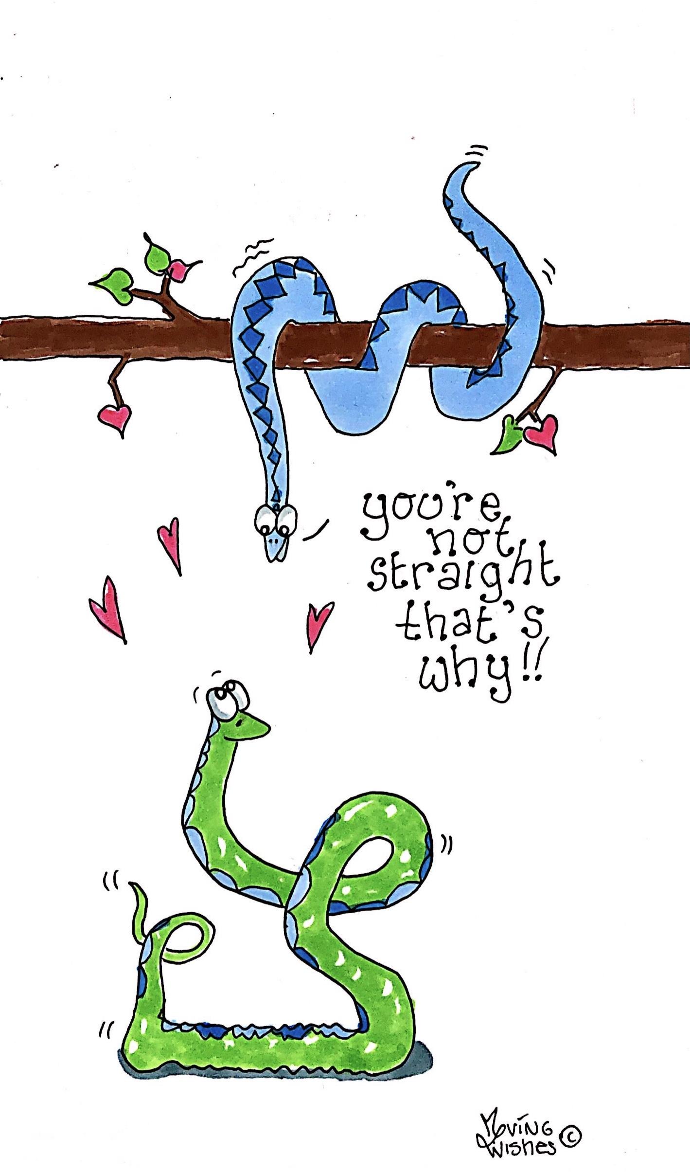 Wenskaart homoseksuele slangen