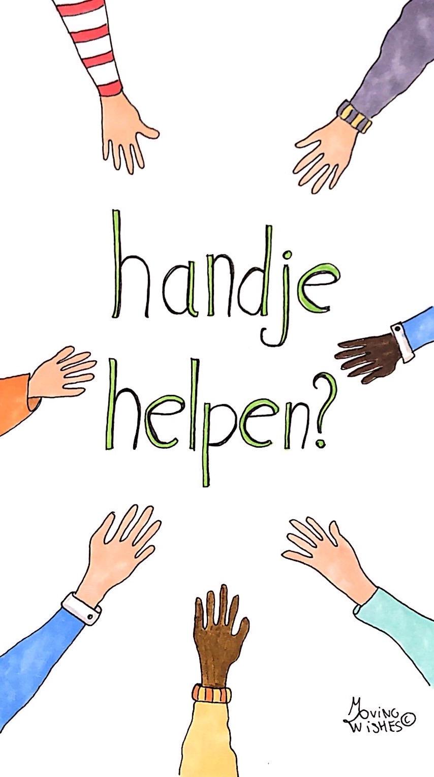 Wenskaart handje helpen