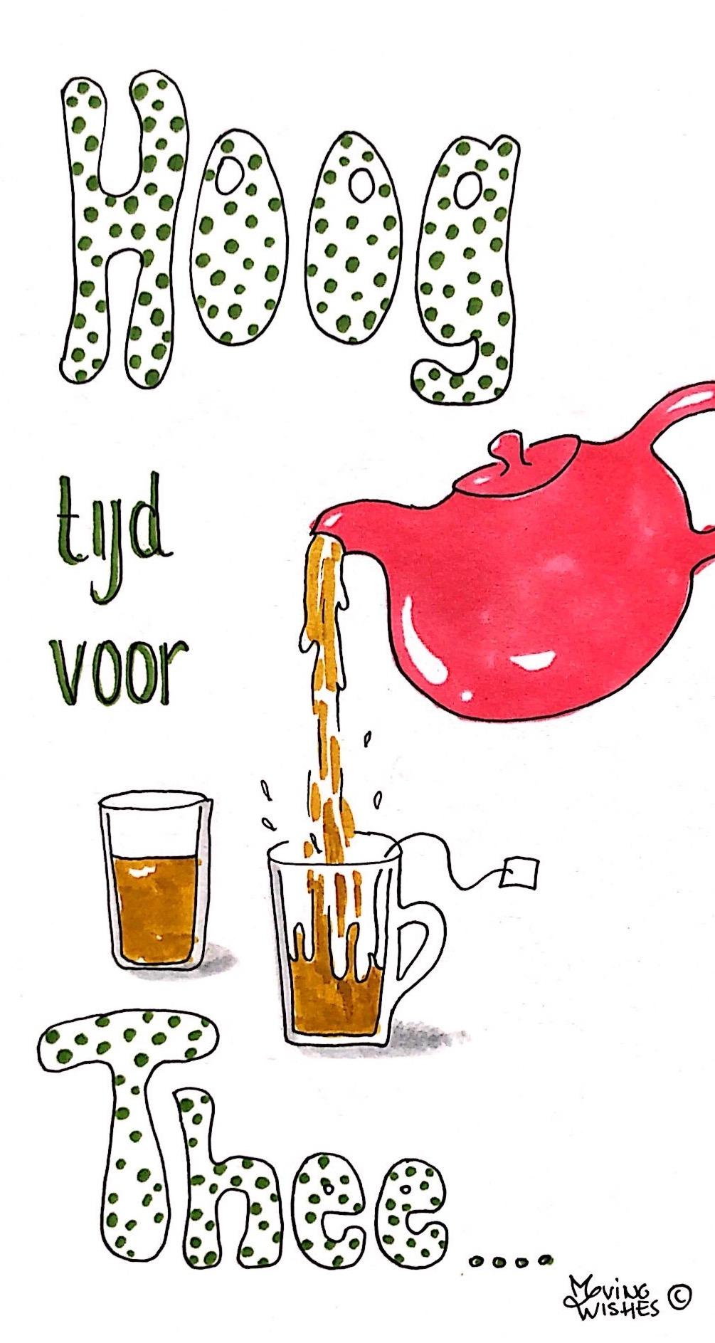 Wenskaart tijd voor thee