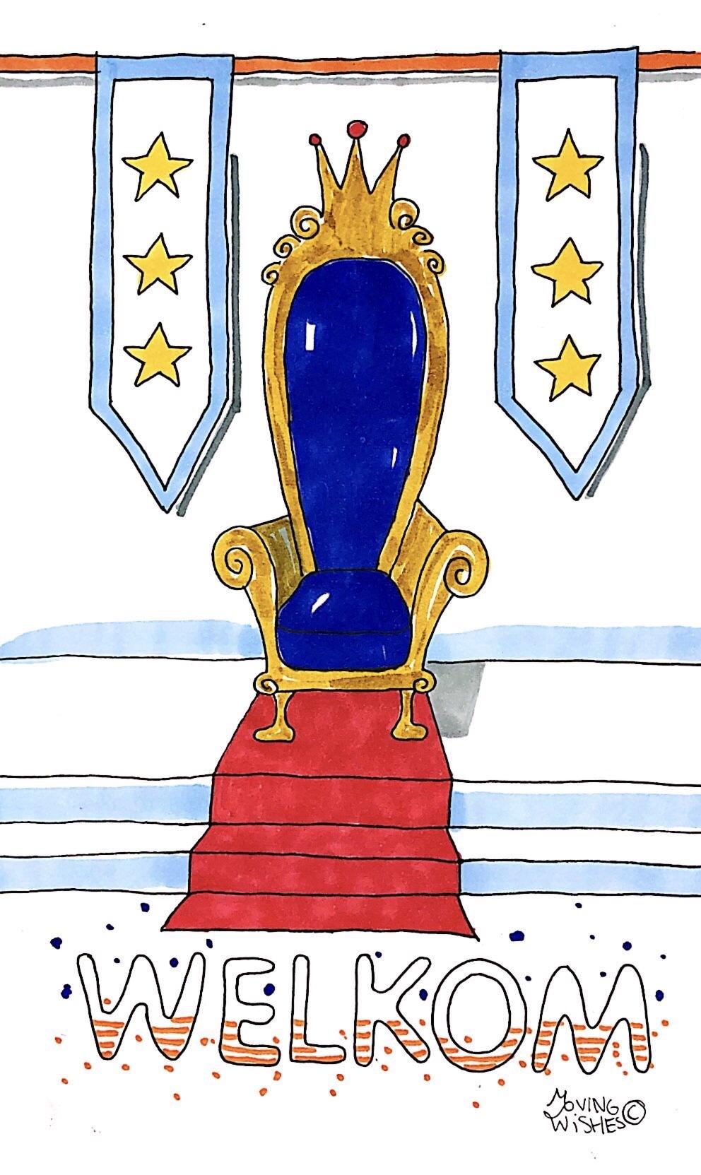 Wenskaart nieuwe koning