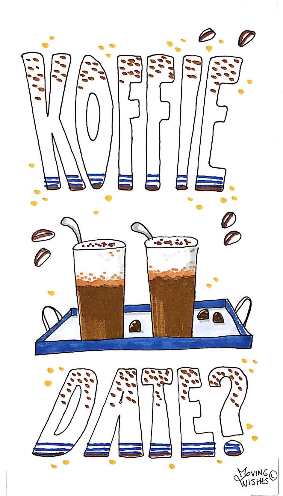 Wenskaart koffiedate