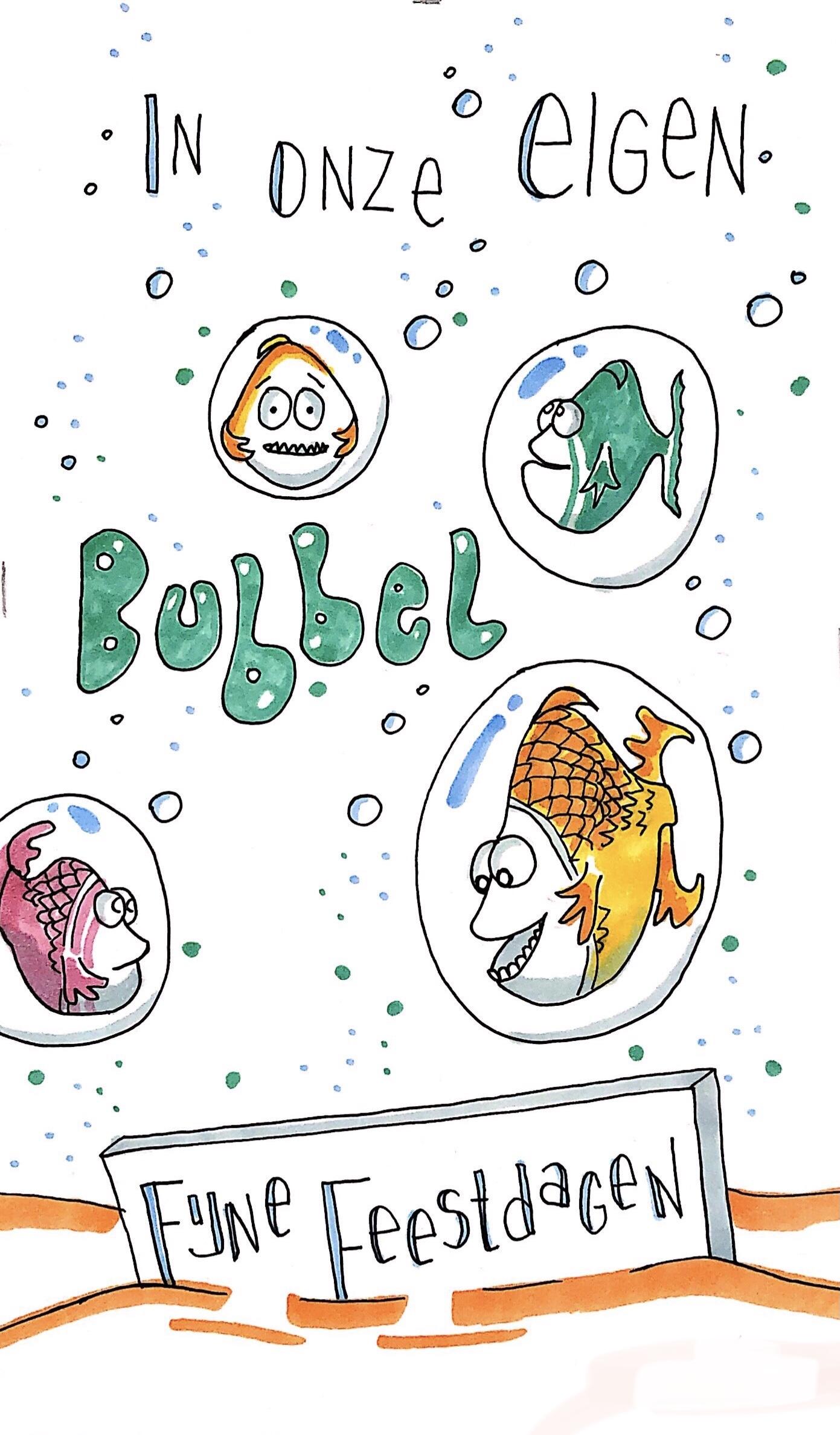 Wenskaart in eigen bubbel