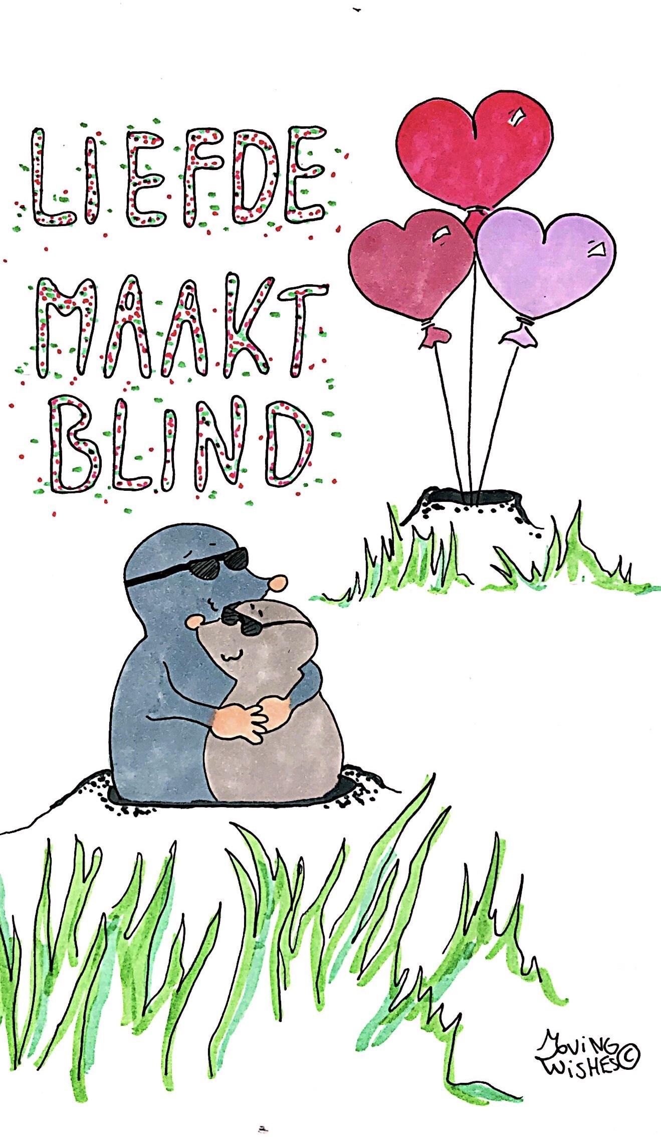 Wenskaart blind vertrouwen.